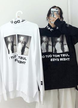 세르만 폴라 프린팅 언발 티셔츠